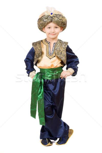 Boy wearing oriental costume.  Isolated Stock photo © acidgrey