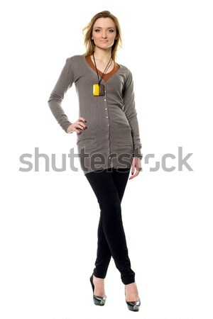 Pretty young woman in pants Stock photo © acidgrey