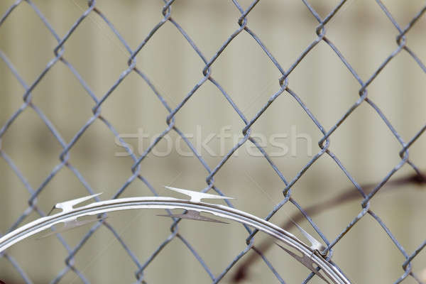 бритва проволоки мнение забор строительство Сток-фото © actionsports