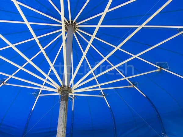 синий зонтик Открытый среде пляж Сток-фото © actionsports