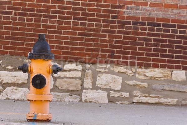огня типичный кирпичная стена городской улице стены лет Сток-фото © actionsports
