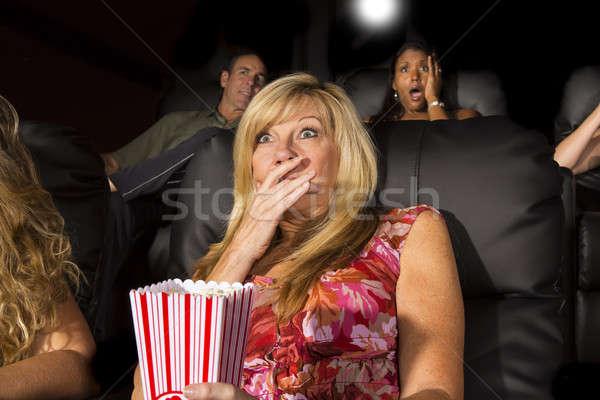 люди смотрят фильма группа людей эмоций Сток-фото © actionsports