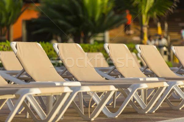 スイミングプール カリビアン リゾート ビーチ 水 太陽 ストックフォト © actionsports