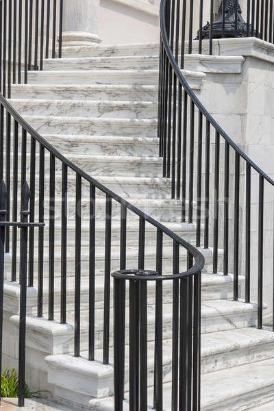 Открытый мрамор лестница служба здании стены Сток-фото © actionsports