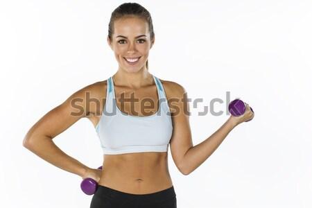 фитнес модель брюнетка из небольшой весов Сток-фото © actionsports