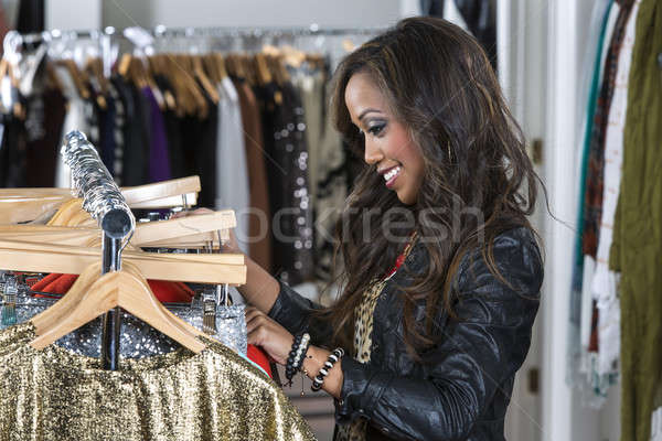 A female consumer shopping in an indoor store Stock photo © actionsports