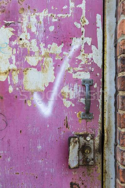 заброшенный двери город среде текстуры фон Сток-фото © actionsports
