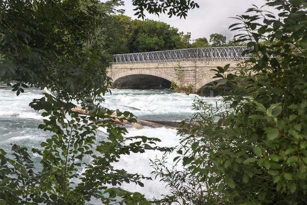Niagara Falls naam drie watervallen internationale Stockfoto © actionsports