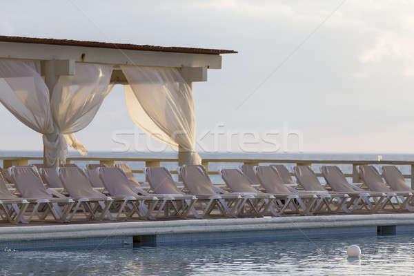 Сток-фото: Бассейн · Карибы · курорта · пляж · воды · солнце