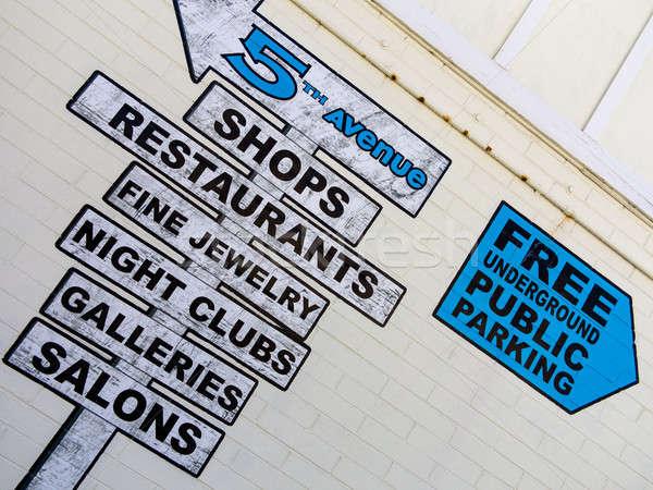 торговых знак группа признаков ресторанов Сток-фото © actionsports