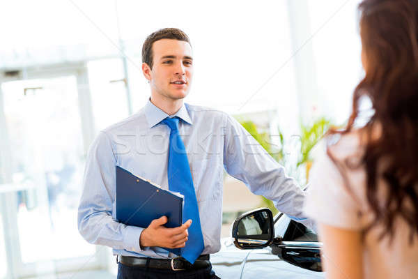 sales manager at a showroom car Stock photo © adam121
