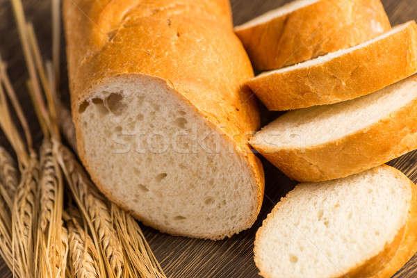 Szeletel gabonafélék búza fülek tábla csendélet Stock fotó © adam121