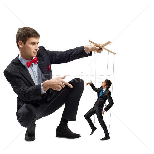 Marionnette affaires homme d'affaires cordes homme travaux Photo stock © adam121