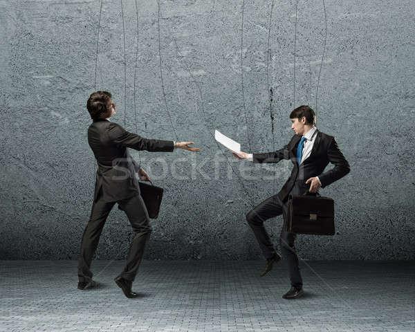 бизнеса изображение два бизнесмен марионеточного кукла Сток-фото © adam121