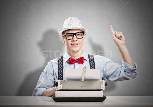 Man writer Stock photo © adam121