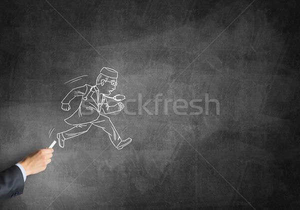 карикатура человека врач мужчины стороны рисунок Сток-фото © adam121