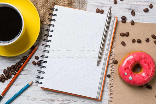 Coffee break with snack Stock photo © adam121