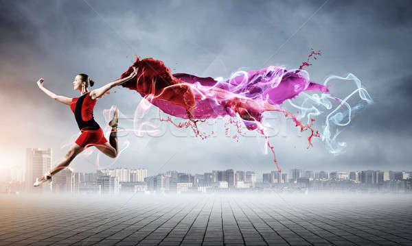 バレリーナ 赤いドレス ゴージャス 小さな バレエダンサー 着用 ストックフォト © adam121