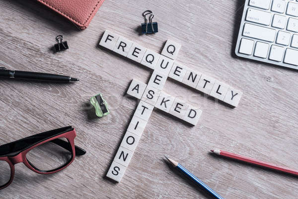 Frequently Asked Questions concept collected of wooden cubes on  Stock photo © adam121