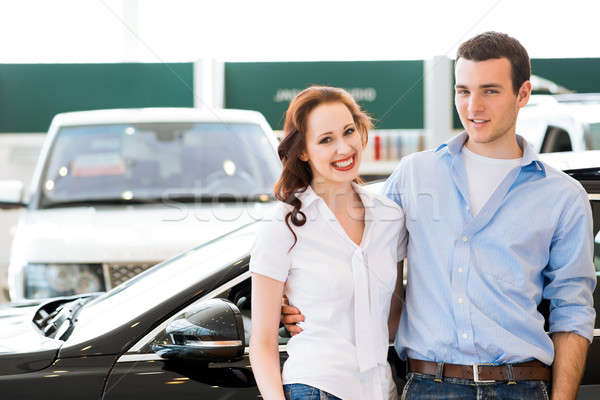 Young couple in the showroom Stock photo © adam121