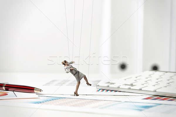 Işkadını kukla bebek büro geçmiş kırtasiye Stok fotoğraf © adam121