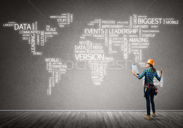 Construction concept and globalization Stock photo © adam121