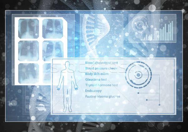 Muzyka użytkownik interfejs mediów obraz DNA Zdjęcia stock © adam121