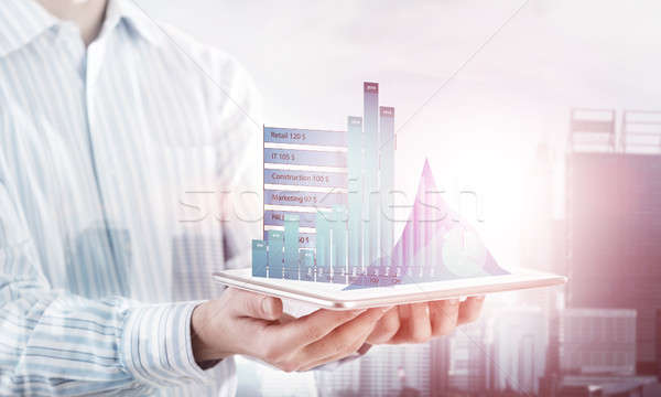 Presenting average sales report Stock photo © adam121
