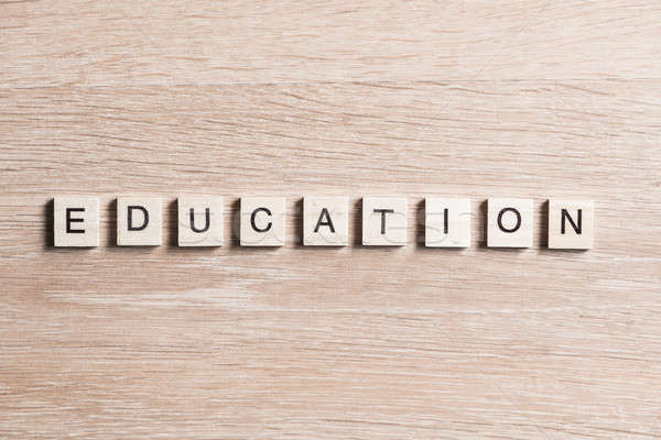 wooden elements with the letters collected in the word education Stock photo © adam121