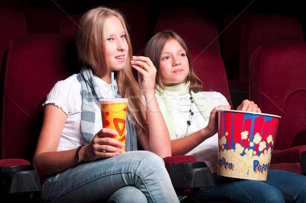 два фильма театра сидеть попкорн Сток-фото © adam121