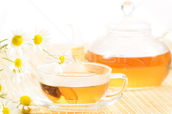 teacup with herbal chamomile tea Stock photo © adam121