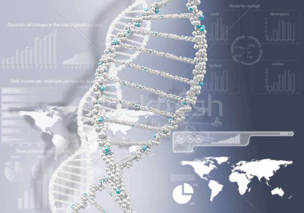 ДНК спираль научный аннотация медицинской Сток-фото © adam121