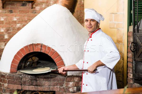 Chef forno tradicional cozinhar família feliz Foto stock © adam121