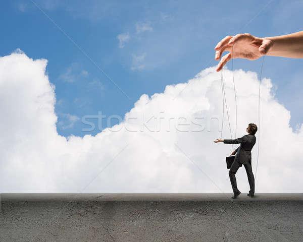 Kukla bebek iş kenar bulutlar gökyüzü Stok fotoğraf © adam121