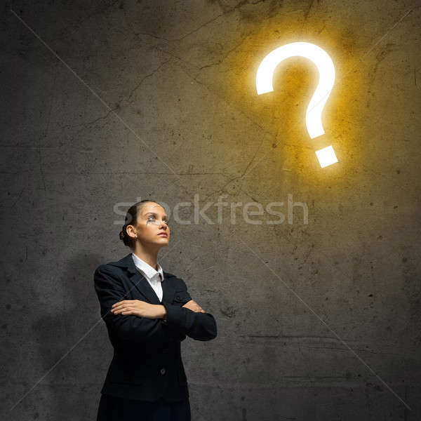 Thoughtful businesswoman Stock photo © adam121