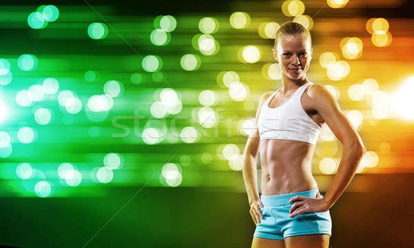 Fitness girl Stock photo © adam121