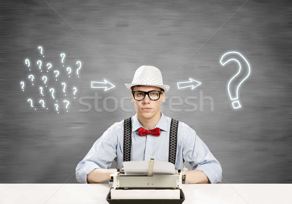 Guy writer Stock photo © adam121