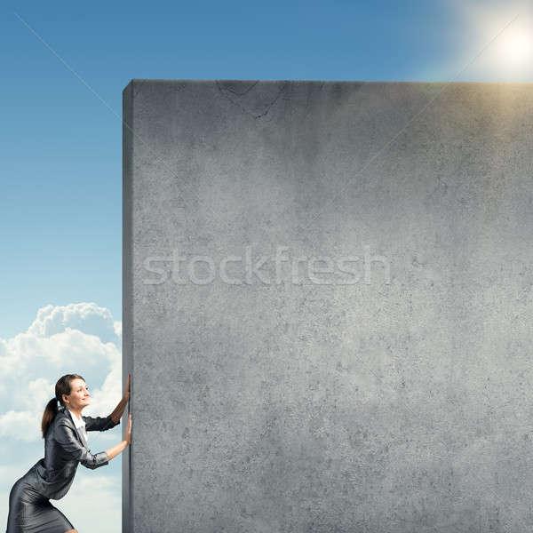 Blank concrete banner Stock photo © adam121