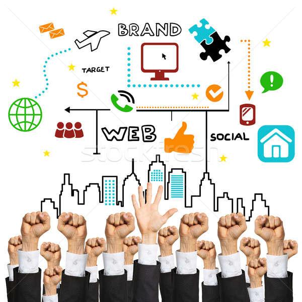 Business and teamwork concept Stock photo © adam121