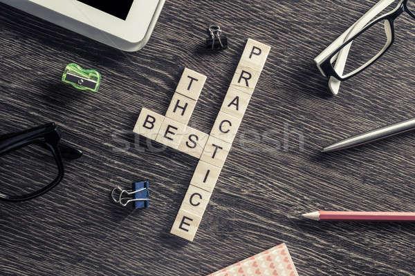 Negocios mesa elementos juego maki palabras Foto stock © adam121