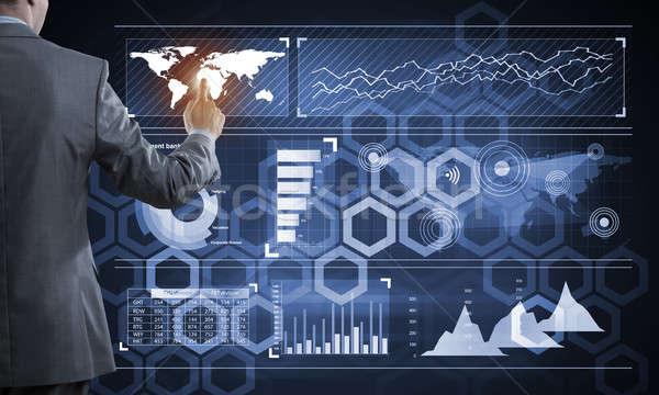 革新的な 技術 ビジネス 背面図 ビジネスマン 作業 ストックフォト © adam121