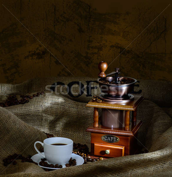 coffee mill and cup Stock photo © adam121