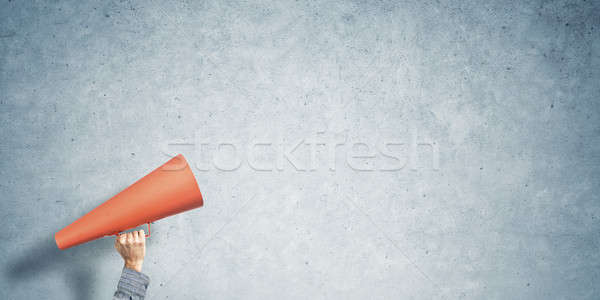 手 男 紙 トランペット 具体的な ストックフォト © adam121