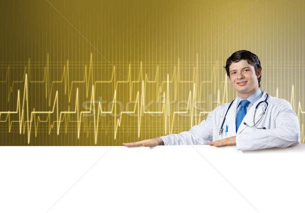 Medico banner giovani bello bianco Foto d'archivio © adam121