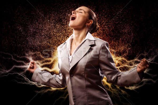 Hevig vrouw woedend armen persoon Stockfoto © adam121