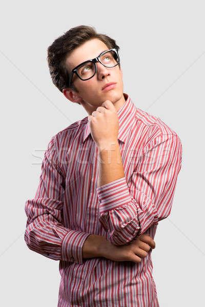 pensive man looking up Stock photo © adam121