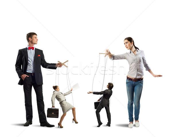 Negócio controlar mulher homem trabalhar Foto stock © adam121