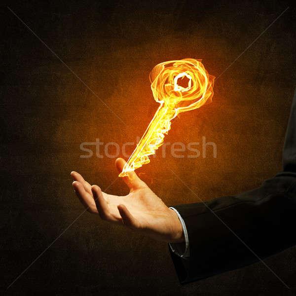 Key fire sign Stock photo © adam121