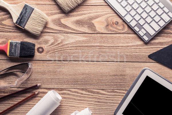 Reparar serviço solicitar variedade ferramentas construtor Foto stock © adam121