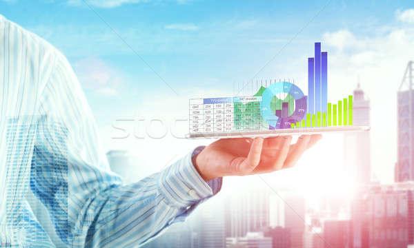 Bemutat átlagos eladó jelentés zárt kilátás Stock fotó © adam121